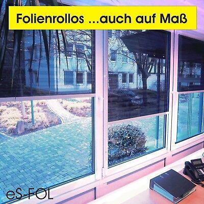 Folienrollo Sonnenschutzfolie Hitzeschutz-Rollo mit Kassette ...auch auf Maß