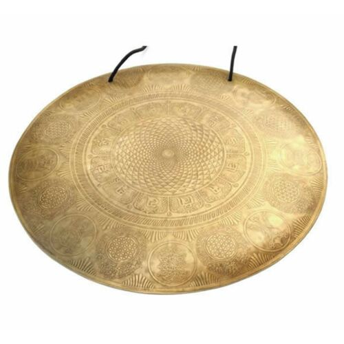 26 inches Large Temple Gong-Handmade gong from Nepal-Tibetan gong-Mantra carved