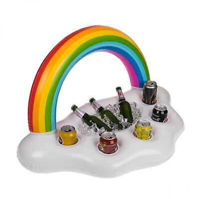 aufblasbarer Pool Getränkehalter Regenbogen Poolbar schwimmender Getränkekühler