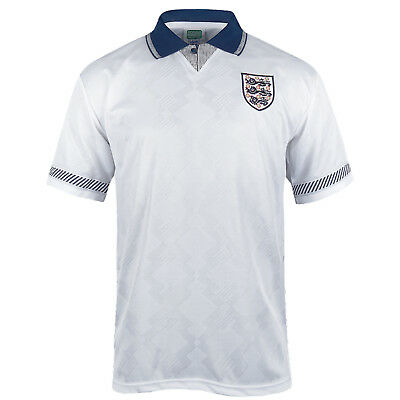 England Retro Football Shirt 1990 Mens Home & Away Kit with Player Name Printing