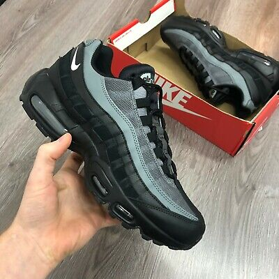 NIKE AIR MAX 95 ESSENTIAL BLACK GREY TRAINERS SIZE UK6 US7 EUR40 CI3705-002