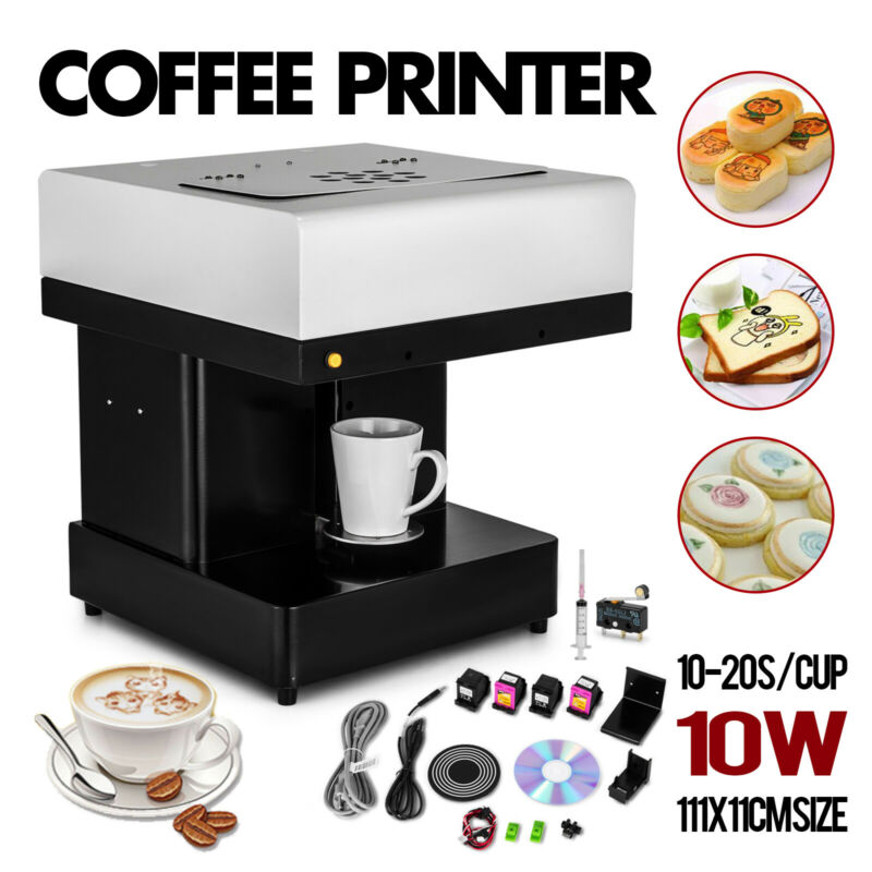 Commercial 3D Inkjet Printing Machine Art Coffee Latte Cppuccino Printer 220V