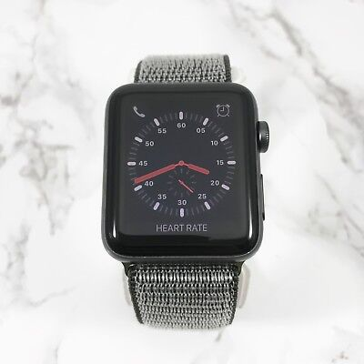 Apple Watch Series 3 42mm Space Gray Aluminium Olive Nylon Loop GPS Cellular