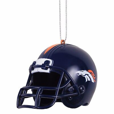 Denver Broncos Helmet Plastic Christmas Tree Holiday Ornament New Team Logo
