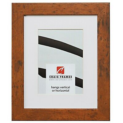 26011 10x13 brown picture frame matted to