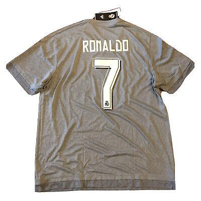 2015/16 Real Madrid Away Jersey #7 Ronaldo XL Football LOS BLANCOS CR7 NEW image