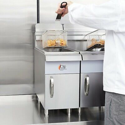 15 Lb. Natural Gas Commercial Restaurant Stainless Steel Countertop Deep Fryer