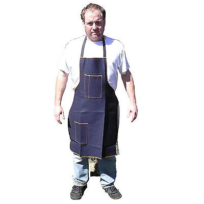 "HAWK AD018 - Denim Shop Apron 2 Pocket 25"" by 34"" Woodworking, Metal Working New"