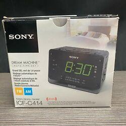 Sony Dream Machine ICF-C414 Dual Alarm Clock AM FM Radio Snooze Sleep NEW IN BOX