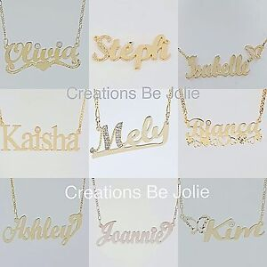 Name Necklace Silver or GOLD