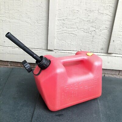 Vintage Blitz Plastic Vented Gas Can 2 Gal Gallon 8 Oz Ounce Fuel Jug Gasoline