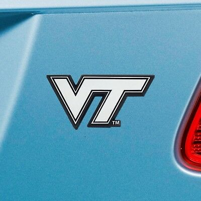 Virginia Tech Hokies Metal - Virginia Tech Hokies Heavy Duty Metal 3-D Chrome Auto Emblem