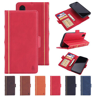 For iPhone X 6 7 8 Plus Flip Magnetic Book Style Wallet Stand Leather Case Cover
