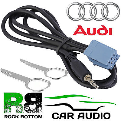 AUDI Concert Factory Fitted Car MP3 iPod iPhone Aux In Input 3.5mm Jack Cable