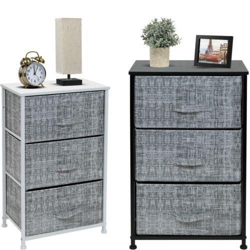 Sorbus 3 Drawers Dresser - Furniture Storage Chest Organizer Bedroom Unit - Gray