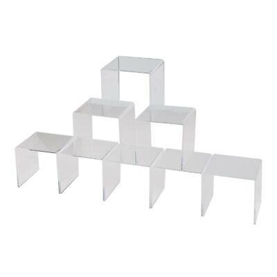 Ihomecooker 8 Pack Clear Acrylic Riser Square Display Stand For Cupcakes Art...