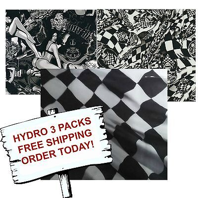 Hydro Dip Hydrographic Film Water Transfer Printing Film Racer 3 Pack