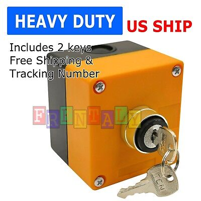Boxed Cased Heavy Duty Onoff Key Switch 22mm 78 With 1-hole Switch Box 2 Key