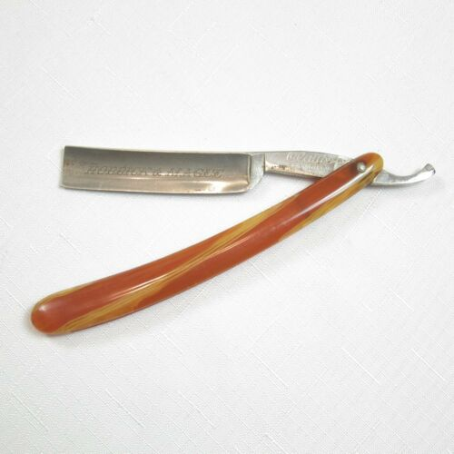 Antique 1887-1918 Straight Razor Clauss Cutlery Co. Fremont Ohio Hobbick & Magee