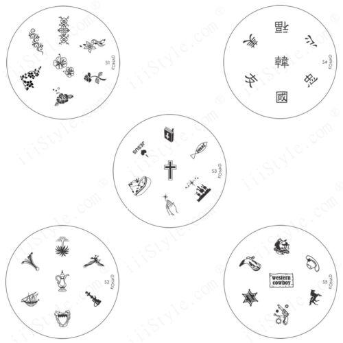 Konad Stamping Nail Art Circle Image Plate S1 S2 S3 S4 S5 Diy Ebay