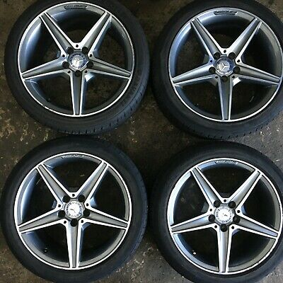 18 inch 5x112 Genuine Staggered MERCEDES C Class W205 Amg Alloy Wheels