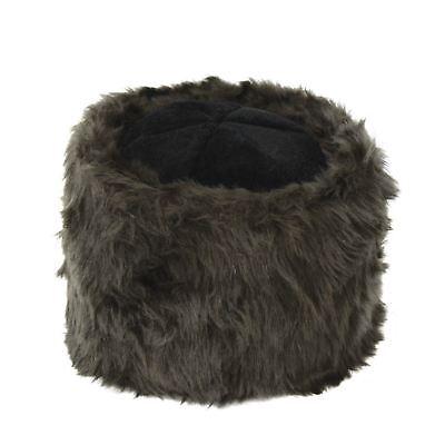 Mens Womens Ushanka Russian Hat Brown Faux Fur Cossack Winter Costume - Russian Hat Costume