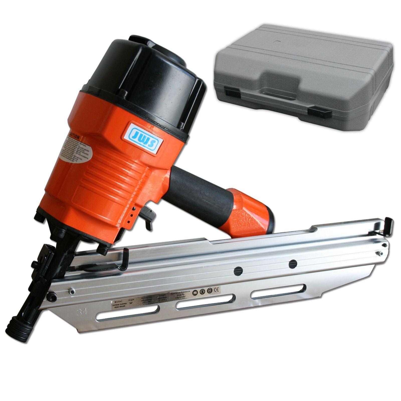 Streifennagler Druckluft Druckluftnagler Nagelgerät 34° 50mm bis 90mm Nagler