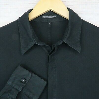 Alexandre Plokhov Men's Large Long Sleeve Button Up Shirt // Black