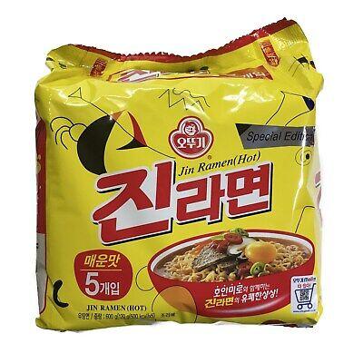 Ottogi Jin Ramen Hot 120g 5Pcs Korean Popular Noodle Instant Food Ramyun