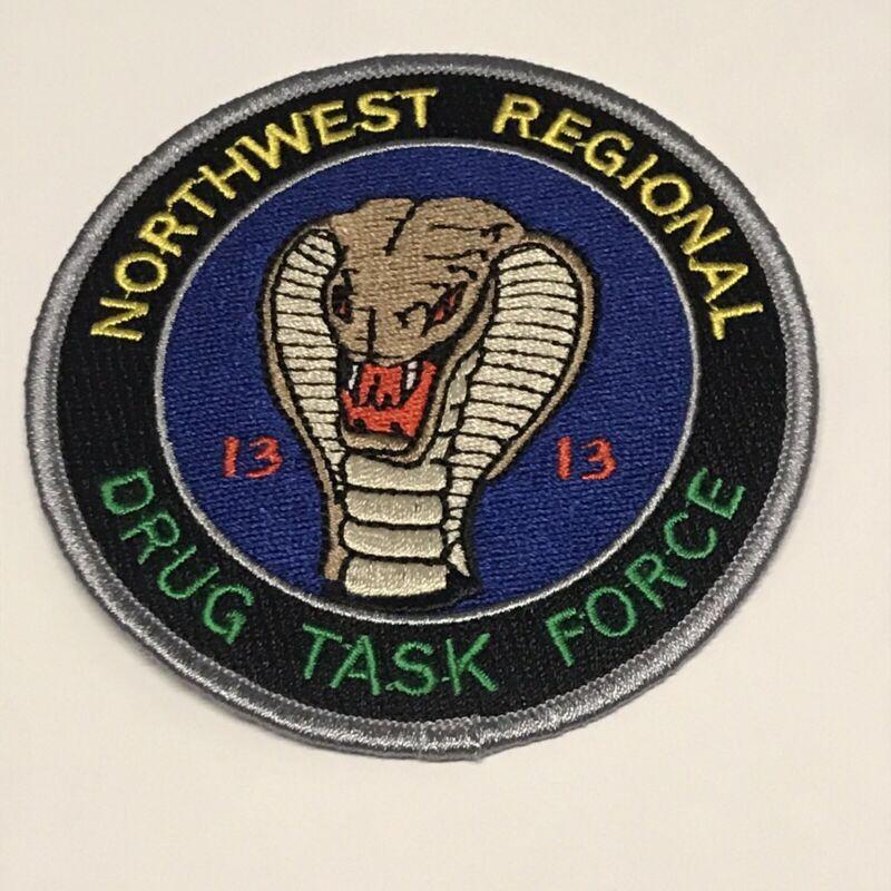 Northwest Regional Drug Task Force Police Patch - Narcotics DEA Vintage