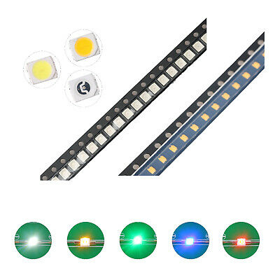 100pcs 5colors 12103528 Smd Smt Led Diodes White Red Blue Mix Kit Lamp Lights