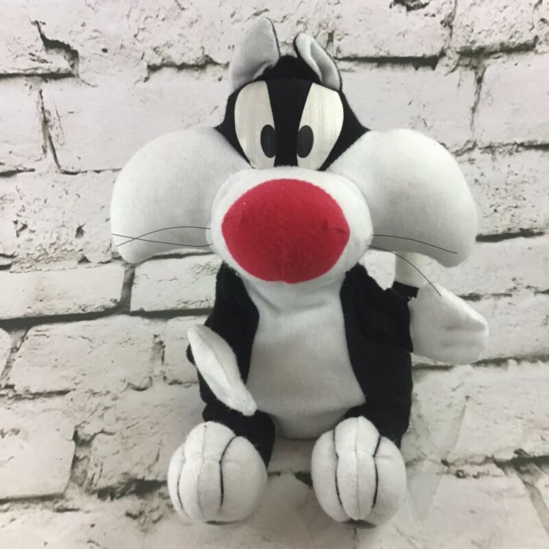 Warner Bros Looney Tunes Sylvester Kitty Cat Plush Hand Puppet Collectible Toy
