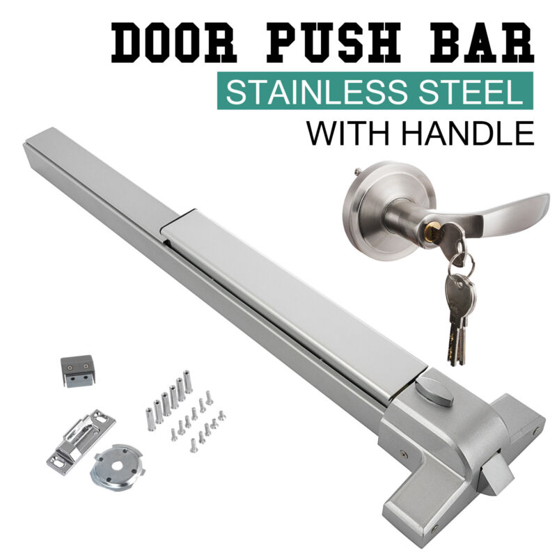 Door Push Bar Panic Exit Device Lock Vertical Emergency Hardware Aluminum Handle