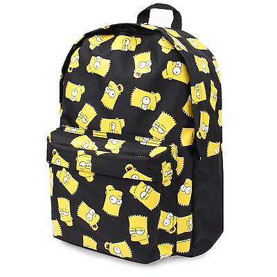 Simpsons Bart Face Children's Backpack, 41 cm, Black Rucksack , school bag Boys