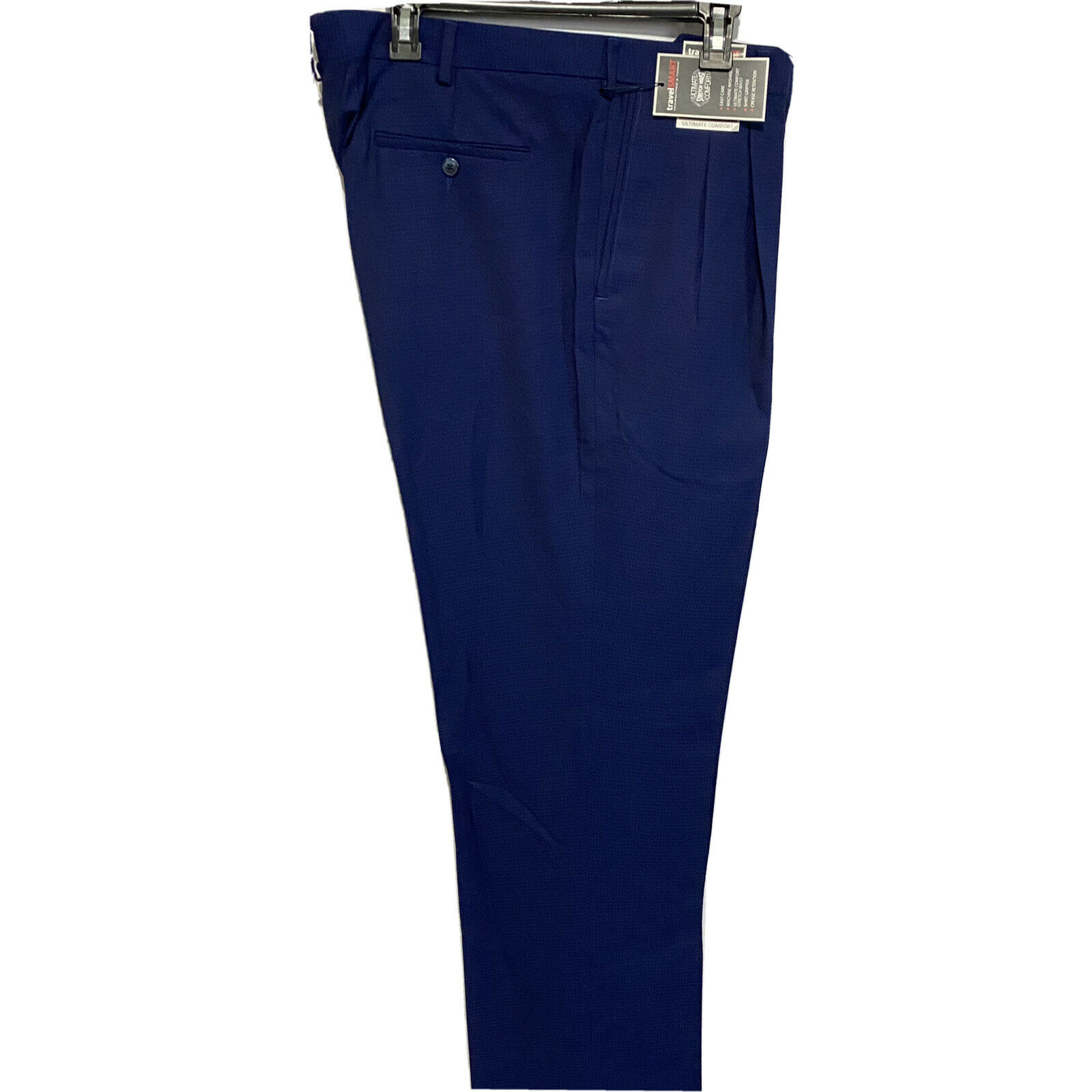 Roundtree & Yorke Travel Smart Ultimate Comfort Classic Fit Pants 36×32 Blue Clothing, Shoes & Accessories