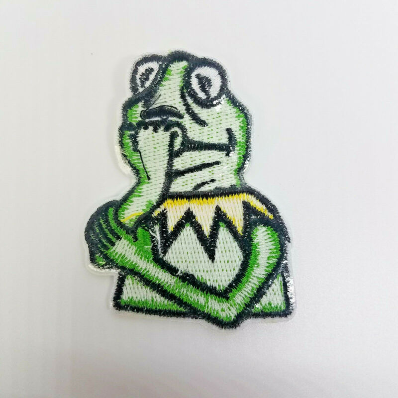 The Muppets Kermit embroidered Patch 2 1//2 inches tall