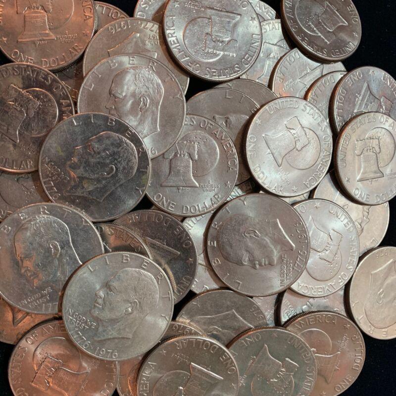 Ike Dollars 10 Count lot 1976 P & D Bicentennial Issues $1 Eisenhower