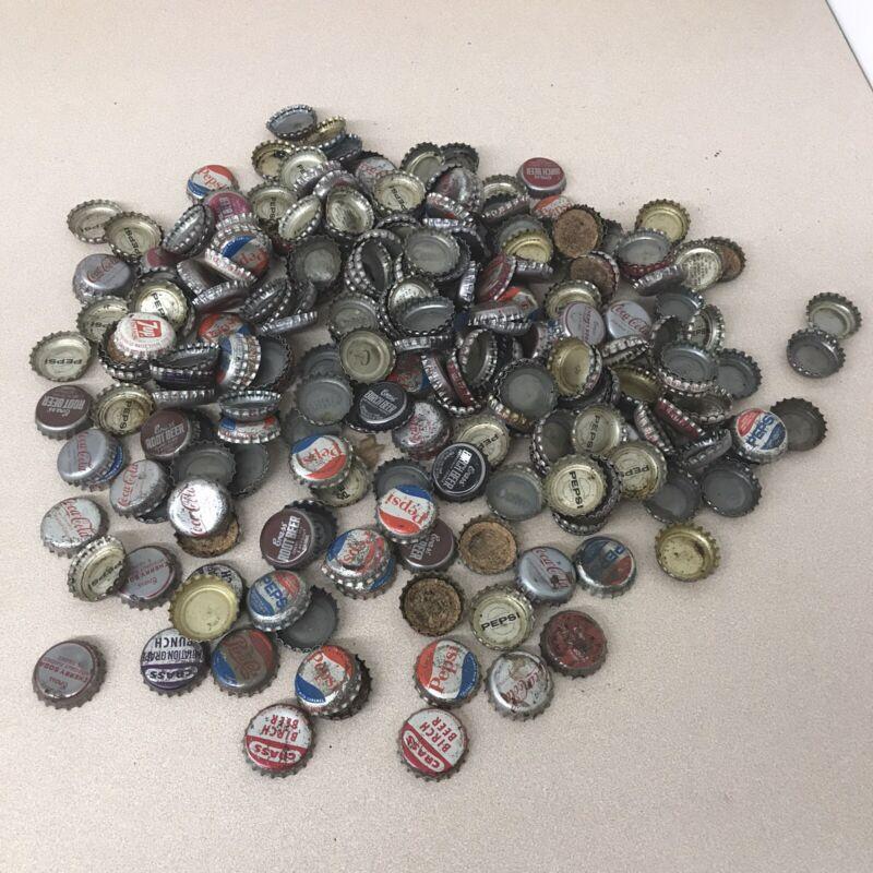 1.5 Pounds Antique Vintage Cork Bottle Caps Soda Crass Coca Cola Pepsi Etc AR108