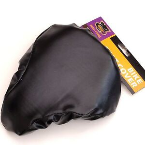 Black Waterproof Bicycle Bike Padded Seat Saddle Cover Comfortable Foam Inner