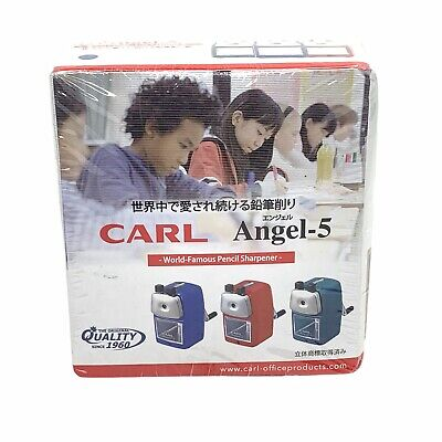 Carl Angel-5 Pencil Sharpener Blue With Desk Clamp Angel 5 Office School Home