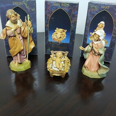 Fontanini by Roman Jesus Mary Joseph Christmas Holy Family Nativity - Set of 3