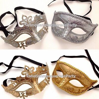 Luxury Royal Gold Silver Eye Mask for Couple wedding costume Masquerade Cosplay - Couple Cosplay Costumes