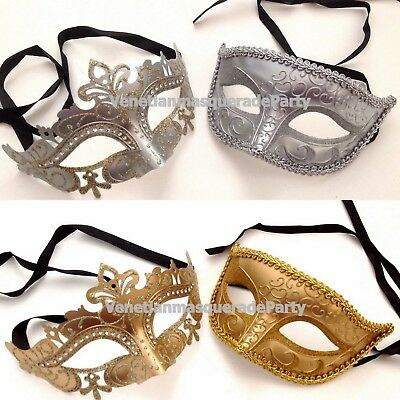 Luxury Royal Gold Silver Eye Mask for Couple wedding costume Masquerade Cosplay - Costumes For Couple
