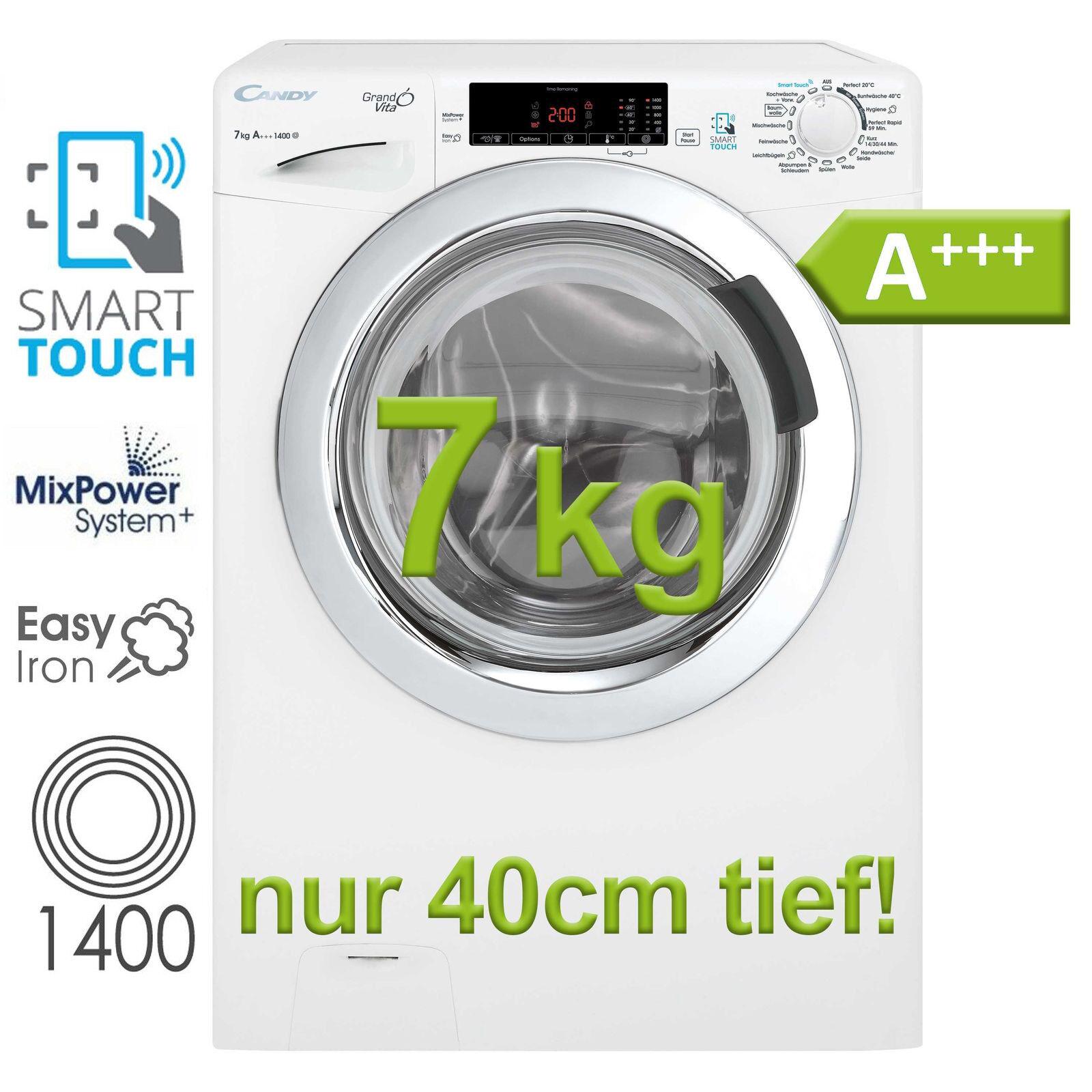 Waschmaschine A+++ Frontlader Candy Hoover 7 kg Display 1400 Upm NFC Dampf NEU