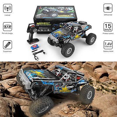 Wltoys 1/10 2.4GHz 4WD Waterproof Racing RC Car Off-Road Rock Electric Crawler -