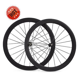 700C 50mm clincher carbon road bicycle/bike wheels for Shimano or campagnolo