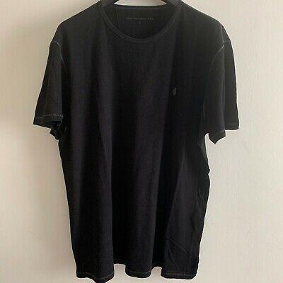 John Varvatos Mens Designer Peace Black T-Shirt XL Extra Large