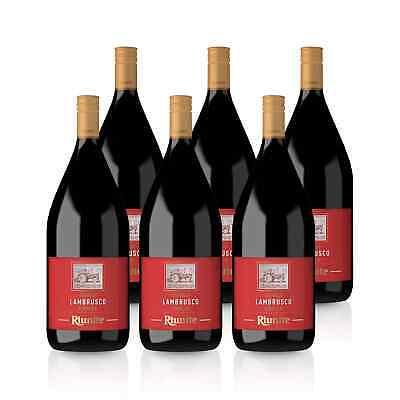 Lambrusco Dolce Perlwein 7%süß rot Italien Emilia (6x 1,5L) - Cantine Riunite