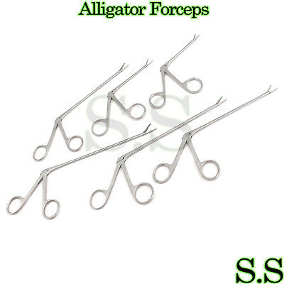 6 Assorted Alligator Forceps Surgical Instruments Ent