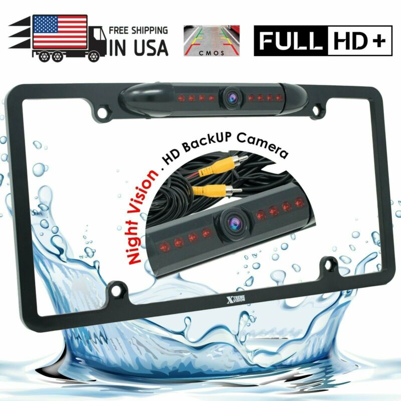 Backup Camera Waterproof Night Vision HD Wide Angle License Plate Car Rear View